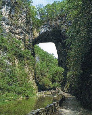Natural Bridge Virginia Summer Post Card