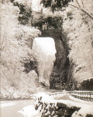 Natural Bridge Virginia Winter Post Card
