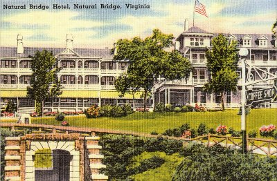 Natural Bridge Virginia Hotel 1920's Post Card