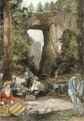 Natural Bridge Virginia by W P Snyder from Harper's Weekly September 8, 1888